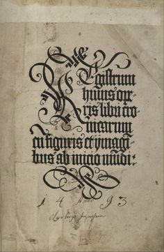Cadel initial © CC/ Academic Library of Tallinn University, Estonia Liber chronicarum, 1493, Nürnberg,  Latin, (I think it's an incunable with hand-coloured initials, but I might be wrong)