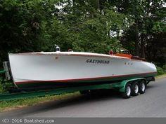 1921 33' gentlemen's race boat with 750hp Rolls Royce Meteor engine built by Robt Yandt Boat Works of Idaho