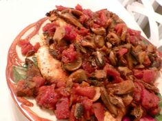 <p>One evening, way back when, Alice, my mother-in-law, cooked chicken</p><p>cacciatore for dinner.  It was new</p><p>to me, and I thought it was delicious, but then, about everything she cooked was</p><p>delicious to me, except for her liver and onions.  Bill can only dream about his mothers' liver and onions now…</p><p>Only pic, we were hungry, and wanted to eat!</p><p>I lost her chicken cacciatore recipe somewhere over time,</p><p>but I remember it had a long list of ingredients…
