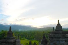 On another side of Borobudur Temple.