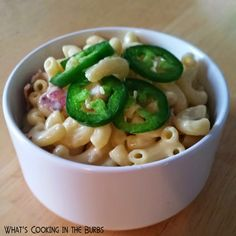 Chicken Jalapeno Popper Mac and Cheese