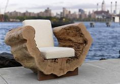 Eco Friendly Reclaimed Wood Seating Furniture Design, Cocoon Chair by Andre Joyau