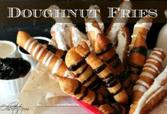 Doughnut fries. Looks like the unhealthiest thing ever but they look so good.