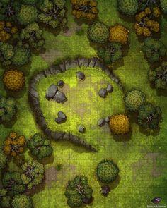 Forest Wilderness 24x30 battlemaps in 2020 Forest map