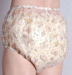 Super Fun Adult Baby ABDL Pants by AC Medical Brand New! In smooth semi transparent PVC Vinyl Fabric MEDIUM: Waist stretches from 26 to 42 FAST UK Shipping! They feel lovely to wear on their own and also have plenty of room for nappies/diapers underneath Grab yourself a Bargain!