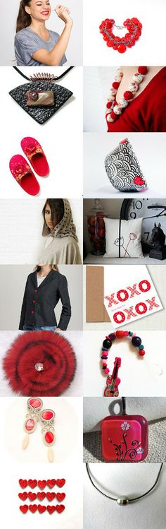 Love is sometimes red sometimes gray by Gina on Etsy--Pinned with TreasuryPin.com