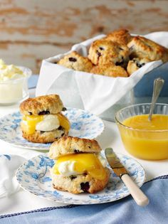 Great British Bake Off semi-final: recipes and baking inspiration - Blueberry and lemon curd scones