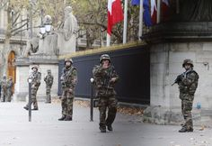 Paris; a literal war-zone... France deployed troops to the streets of Paris after the attacks.