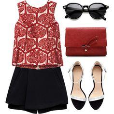 """City Skirt Style"" by emc1397 on Polyvore: New Round Indie Fashion Eyewear Dapper Sunglasses 8836"