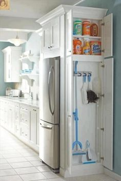 Skinny cabinet for cleaning stuff brilliant