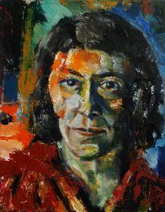 "Portrait of Joan Mitchell, Oil on Canvas 14x11"", © 2013 Alan Derwin"