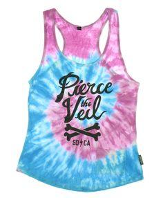 Pierce The Veil Pink Blue Tie Dye Girls Tank Top