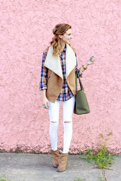 Love shearling vests! see how i style my favorite on southern elle style! http://southernellestyle.com/blogfeed/southern-elle-style-shop-share-attitudes-and-attire