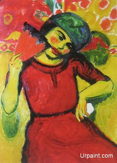 Young Woman with a Red Fan