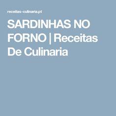 SARDINHAS NO FORNO |  Receitas De Culinaria