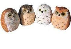 Mini Owl Figurines