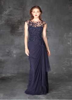 Teri Jon blue evening gown #terijon #mob #blue Style ...