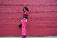 How I Style | Pink Stripe  Off The Shoulder Sweater