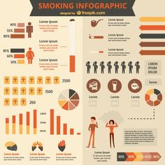 Freepick Infogragic Smoking free template