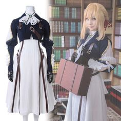 Synthetic None-lacewigs Objective Anogol Beauty Violet Evergarden Blonde Synthetic Cosplay Wig Girls Long Straight Natural Role Play Wigs With Bangs For Halloween Attractive Fashion