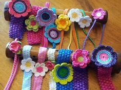 Crocheted Flower Headbands