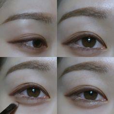 헤이다(ldk0109)님의 스타일 | 🌹무펄 베이지색 순으로 1번입니다🌹 <1>~<4> 사진 설명 참고 <5> 눈을 감았을 때 일직선이 되도록 Soft Makeup Looks, Asian Make Up, Ulzzang Makeup, Korean Eye Makeup, Asian Eyes, Cosplay Makeup, Makeup Inspo, Hair Makeup, How To Make
