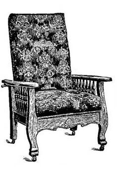 Beautiful Oak Antique Morris Chair Louis Schaefer Phila Pa Good Cond Look Beautiful Us And