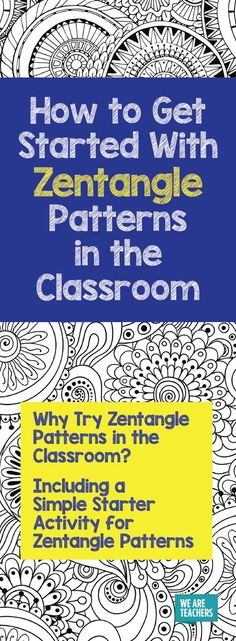 Creating Zentangle patterns is a great way to help students focus and manage their emotions. Here's a free activity to help you get started.