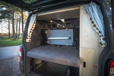 Director of photography and cameraman Rob wanted a camper that would double up as the ideal location vehicle. Somewhere to stay in comfort, carry all his kit and make a great shooting platform Vw Transporter Camper, T5 Camper, Mini Camper, Vw T5, Van Conversion Layout, Camper Van Conversion Diy, Campervan Interior, Campervan Ideas, Mobile Living