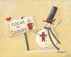 Cocoa and Cookies by Jill Ankrom 10x8 in.