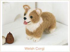 ハマナカ フェルト羊毛キット犬 ウェルシュ・コーギー H441-303