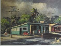 "Harold Newton painting ""Eddie's Place"" from The Highwaymen: Florida's African-American Landscape Painters."