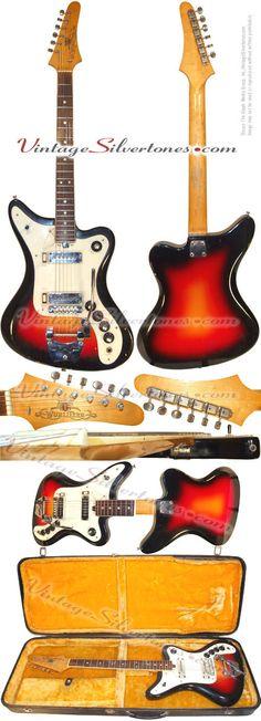 Wurlitzer Wildcat solid body, stereo, electric guitar-2 pickups-sunburst circa 1968