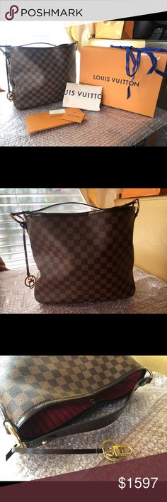 c711057de3c6c Authent Delightful PM Louis Vuitton Damier Ebene. Authentic Delightful PM Louis  Vuitton Damier Ebene.