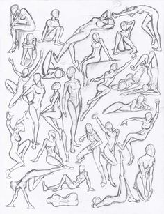 drawing poses Figure drawing studies - poses by on deviantART Figure Drawing Reference, Art Reference Poses, Human Figure Drawing, Human Body Drawing, Female Pose Reference, Human Sketch, Figure Drawing Models, Figure Drawings, Anatomy Reference