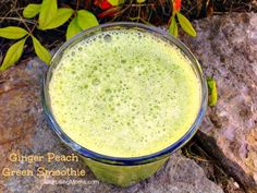 Ginger Peach Green Smoothie Recipe - LifetimeMoms
