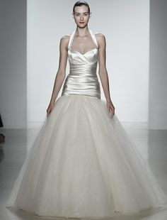 New, 100% Authentic Kenneth Pool Jemma K433 wedding dress at up to 90% off retail at Your Dream Dress. The halter neck and sweetheart neckline give this dress just the right amount of sexy.