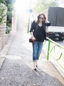 maAのfashionistaを目指すブログ☆-梨花ちゃん マタニティファッション