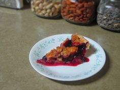 Purpleberry pie.  Strawberry and blueberry pie with sweet crumb crust.