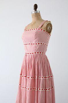 1950s sundress,  Saks Fifth Avenue pinstripe dress by 86Vintage86 on Etsy https://www.etsy.com/listing/195601550/1950s-sundress-saks-fifth-avenue