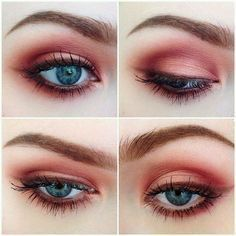 Grunge Makeup Look Idea: Red Eyeshadows---use venus I? Everyday/casual style