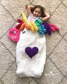 Ideas Crochet Unicorn Free Repeat Crafter Me For 2019 Crochet Unicorn Blanket, Crochet Unicorn Pattern Free, Crochet Mermaid, Crochet Blanket Patterns, Crochet Blankets, Crochet Gifts, Crochet Toys, Crochet Baby, Crochet Cocoon