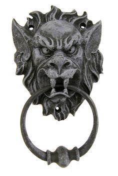 Gargoyle Door Knocker | Decor /Oddities - Gargoyle Head Door Knocker