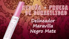 Reseña Delineador Maravilla para Contorno de Ojos  Negro Mate + Prueba D...