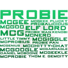 All of Tony's names for McGee... Poor Probie- I mean McGee... lol...