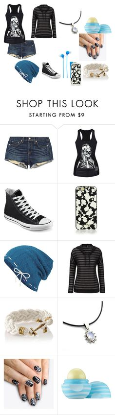 """""""Untitled #24"""" by creepyangel2 ❤ liked on Polyvore featuring rag & bone/JEAN, Converse, Kate Spade, Keds, maurices, alfa.K, Eos and Sony"""
