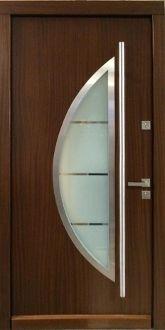 15 Main Entrance Door Design Ideas - The Wonder Cottage Main Entrance Door Design, Room Door Design, Wooden Door Design, Entrance Doors, Wooden Doors, Contemporary Front Doors, Modern Front Door, Front Entry, Modern Exterior Doors