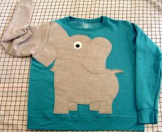 Elephant Trunk sleeve sweatshirt sweater by CreativeCallipipper on Wanelo