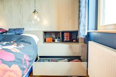 #bedsidetables #bedroomstorage Fitted Bedroom Furniture, Fitted Bedrooms, Living Room Storage, Bedroom Storage, Made To Measure Wardrobes, Design Projects, Bookcase, Shelves, House Design