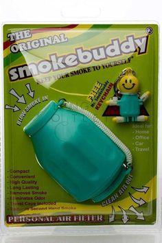 Smokebuddy Original Personal Air Filter - Teal Car Travel, Air Filter, Filters, Led, The Originals, Smoking, Design, Tobacco Smoking, Smoke